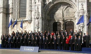 A photo of world leaders in Lisbon