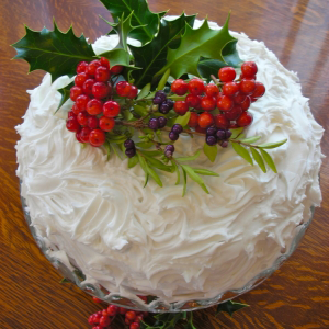 A photo of a Christmas Cake