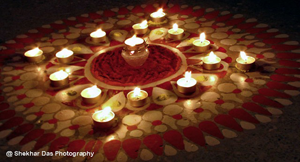 A photo of Divali Candles