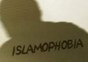 An image of the word Islamophobia
