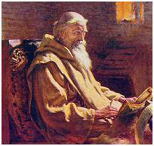 A painting of Venerable Bede