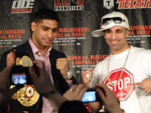 A photo of boxer Amir Khan