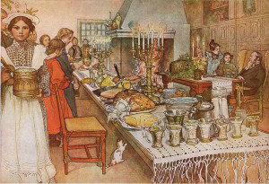 A painting by Carl Larsson - titled 'Christmas Eve'