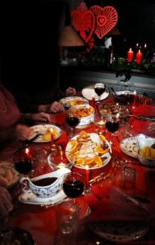 A photo of a danish Christmas dinner