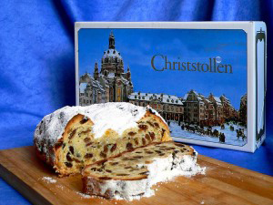 A photo of Stollen cake