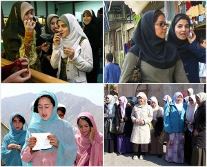 4 photos of different Muslim Women's groups