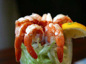 A photo of prawn cocktail