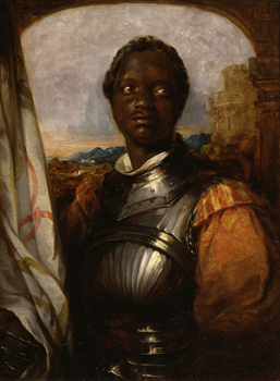 A portrait of Ira Aldridge playing Othello
