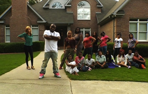A photo of Shawty Lo and his large family