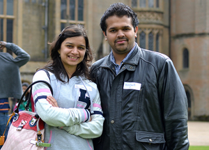 A photo of two people at Newstead Abbey