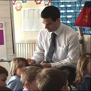 A photo of a male teacher