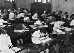 A photo of boys studying