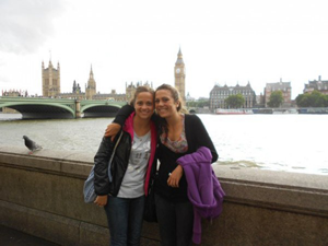 A photo of the authour on the South Bank of London