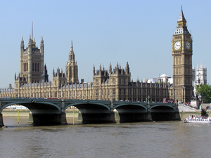 A photo of the houses of parliament