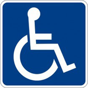 A photo of the handicapped sign