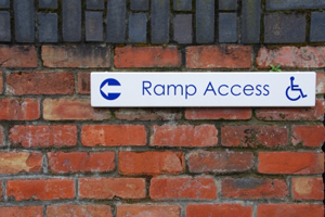 A photo of a ramp access scene