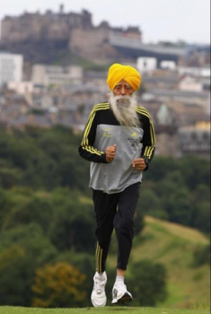 A photo of marathon runner Fauja Singh