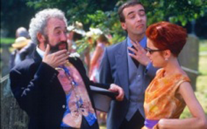 A photo of a scene from Four Weddings and a Funeral