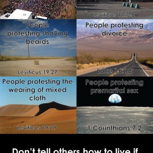 A series of quotes on what the bible forbids