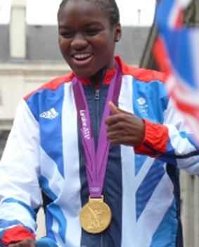 A photo of Olympian Nicola Adams