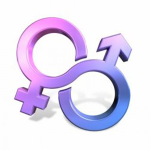 A symbol showing the fluidity of sexuality