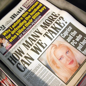 A photo of a xenophobic daily mail headline