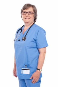 A photo of a nurse