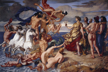 Image of the oil painting Neptune resigning to Britannia, the empire of the sea'